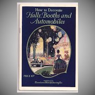 Dennison Booklet 1927 'How to Decorate Halls, Booths and Automobiles'
