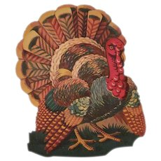Thanksgiving Turkey with an Ear of Corn Diecut