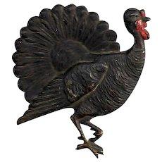 Fine Detailed Embossed Flat Metal Turkey Piece