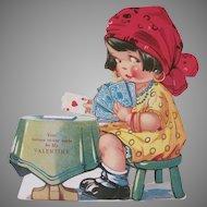Vintage Printed in Germany Mechanical Fortune Teller Valentine