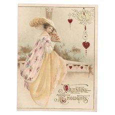'Valentine Thoughts' Single Fold Lovely Lady Germany Valentine