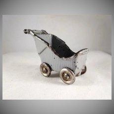 "Kilgore 3/4"" Baby Buggy/Stroller Dollhouse Furniture"