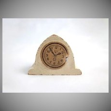 "Kage 3/4"" Cathedral White Kitchen Clock Dollhouse Accessory"