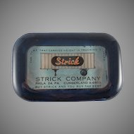 Strick Company Advertising Glass Paperweight