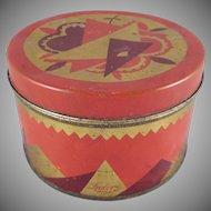 Luxor-Krasny Powder Art Deco Design Lithographed Tin Container