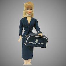 Vintage Barbie American  Airlines #984 Skirt, Jacket, and Suitcase