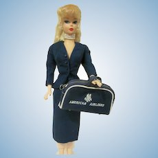 Vintage Barbie American  Airlines #984 Skirt, Jacket, and Suitcase