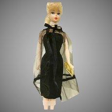 Vintage Barbie Black Magic Ensemble #1609 Dress, Cape, and Purse