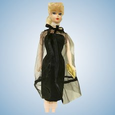 Vintage Barbie Black Magic Ensemble #1609 Dress, Cape, and Purse