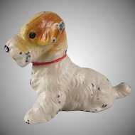 Hubley Cast iron Sealyham Terrier Party Favor Toy Figure