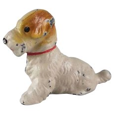 Hubley Cast iron Sealyham Terrier Party Favor Toy Figure