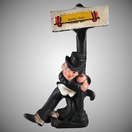 Cast Iron Drunk by a Lamp Post Souvenir Bottle Opener