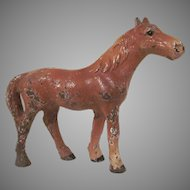 Hubley Cast Iron Chestnut Horse Paperweight