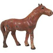 Hubley Cast Iron Chestnut Horse Paperweight