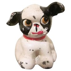 Hubley Cast Iron Fido Boston Terrier Puppy Paperweight