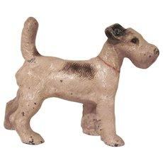 Vintage Hubley Cast Iron Fox Terrier 3 Dimensional Doorstop