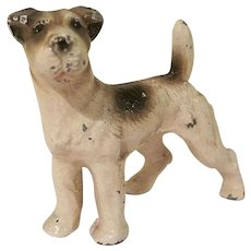Vintage Hubley Cast Iron Fox Terrier Paperweight