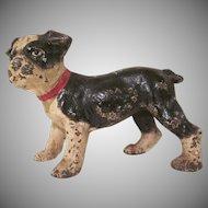 Vintage Hubley Cast Iron Boston Terrier Puppy Doorstop