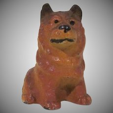 Vintage Hubley Cast Iron Chow-Chow Dog Party Favor Toy Figure