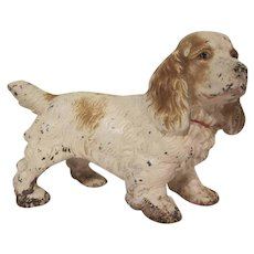 Vintage Hubley Cast Iron Cocker Spaniel Doorstop