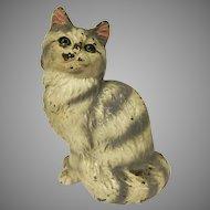 Vintage Hubley Cast Iron #302 Persian Cat Doorstop