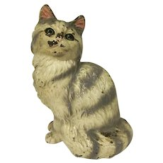 Vintage Hubley Cast Iron #302 Persian Cat Doorstop