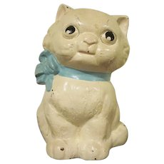 Vintage Hubley Cast Iron Kitty Bank