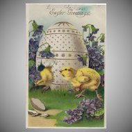 Vintage Easter Greetings Germany Postcard 1910
