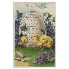 Vintage Easter Greetings Germany Postcard 1910