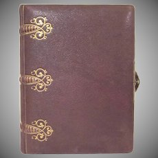 Early Leather Covered Photo Album with 31 Cabinet Card Photographs
