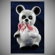 Royal  Copley White Bear with Lollipop Planter HTF