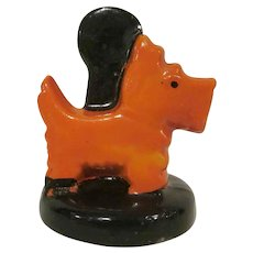 Glazed Bisque Made in Japan Scottie Dog Placecard Holder