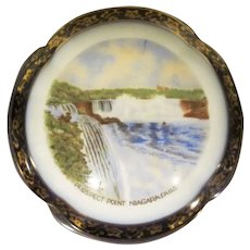 Early Prospect Point Niagara Falls Germany Souvenir China Trinket Box