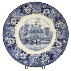 Old English Staffordshire Ware Adams and Jonroth Governor's Palace Williamsburg, Virginia Souvenir Plate