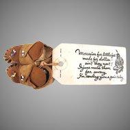 American Indian Moccasins Souvenir Mailer Leatherette