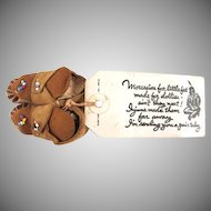 American Indian Moccasins Souvenir Mailer Leatherette