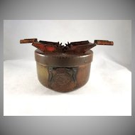 Hammered Copper Alaska Territory 'Shield' Souvenir Ash Tray