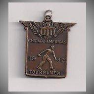 Chicago American  1932 Softball Fob
