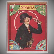 1930s Dimestore Pad of Paper with Women's 'Sports' on the Cover