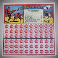 Vintage Football Push Game Not Used Nice Football Picture