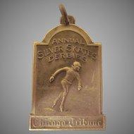 Annual Silver Skater Derbies Chicago Tribune Preliminary Winner Medal, Fob