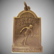 Annual Silver Skater Derbies Chicago Tribune Preliminary Winner Medal, Fob