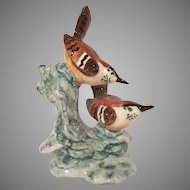 Stangl Pottery Double Wren Hand Painted Bird Figurine 3401D