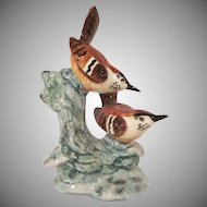 Stangl Pottery Double Wren Hand Painted Figurine 3401D