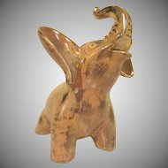 Stangl Pottery Granada Gold Elephant Figurine