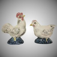 Stangl Pottery Rooster and Hen Salt and Pepper Shakers 3286