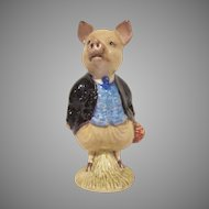 Beswick Beatrix Potter's Pigling Bland F. Wayne and Co., Ltd. Figurine Purple Jacket