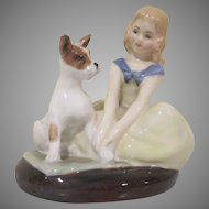 Royal Doulton Golden Days Girl with Terrier Dog Figurine HN2274