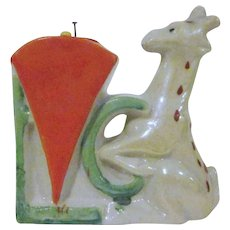 Made in Japan Art Deco Lustre Bisque Giraffe Pincushion