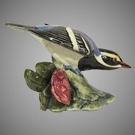 Stangl Pottery #3810 Blackpoll Warbler Bird Figure